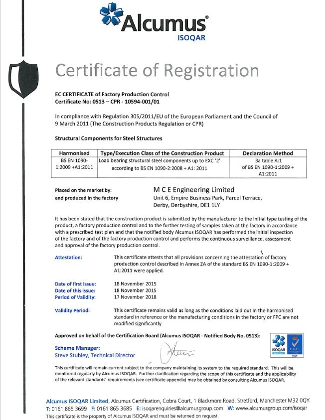 Bs En 1090 Ce Marking Accreditation Attained